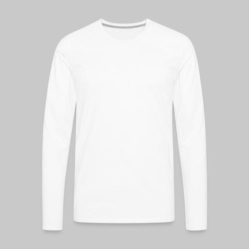 valkoinen - Miesten premium pitkähihainen t-paita