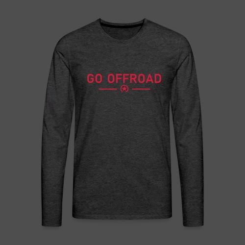 idź off-road - Koszulka męska Premium z długim rękawem