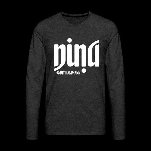 Ambigramm Nina 01 Pit Hammann - Männer Premium Langarmshirt