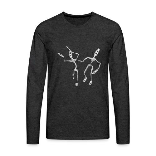 tanzende kaffeeumruehrer - Männer Premium Langarmshirt