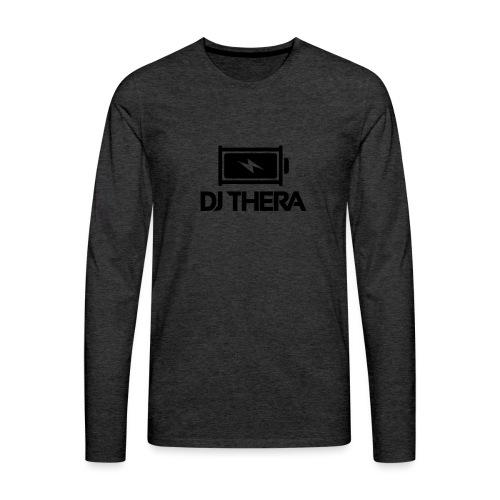BLACK (1) - Mannen Premium shirt met lange mouwen