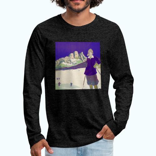 Ski trip vintage poster - Men's Premium Longsleeve Shirt