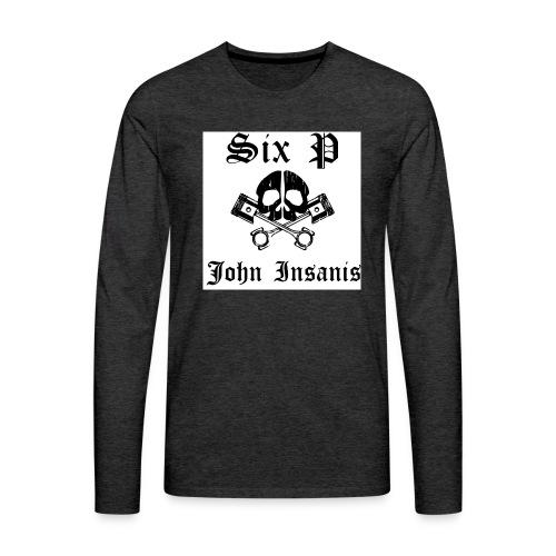 Pääkallo 2 T- Paita - Miesten premium pitkähihainen t-paita