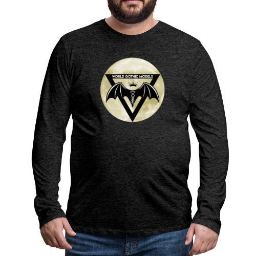 Single WGM Logo Moon Design - Men's Premium Longsleeve Shirt