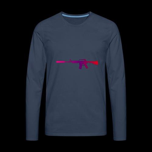 csgo m4a1 s fade - Långärmad premium-T-shirt herr