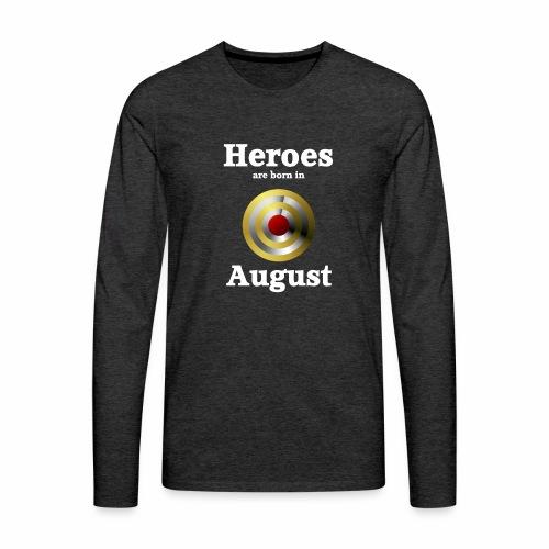 August - Männer Premium Langarmshirt