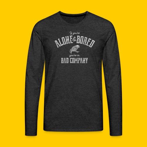 Alone and bored - Långärmad premium-T-shirt herr