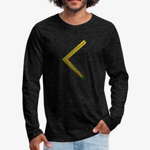 Farbenfrohes Runenmotiv in Trendfarben - Männer Premium Langarmshirt