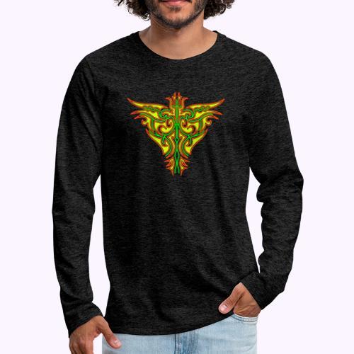 Maori Firebird - Mannen Premium shirt met lange mouwen