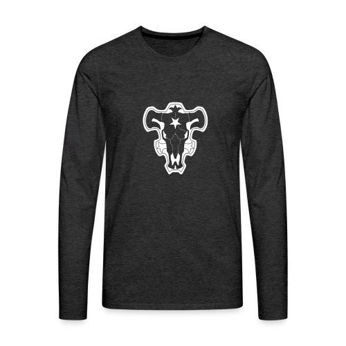 Black Clover Black Bulls - Miesten premium pitkähihainen t-paita