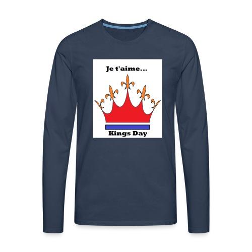 Je taime Kings Day (Je suis...) - Mannen Premium shirt met lange mouwen