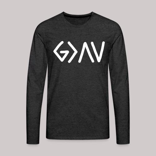Dios es GRANDE - Camiseta de manga larga premium hombre