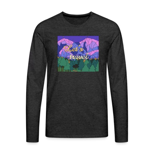 Lets Travel T-Shirt - Männer Premium Langarmshirt