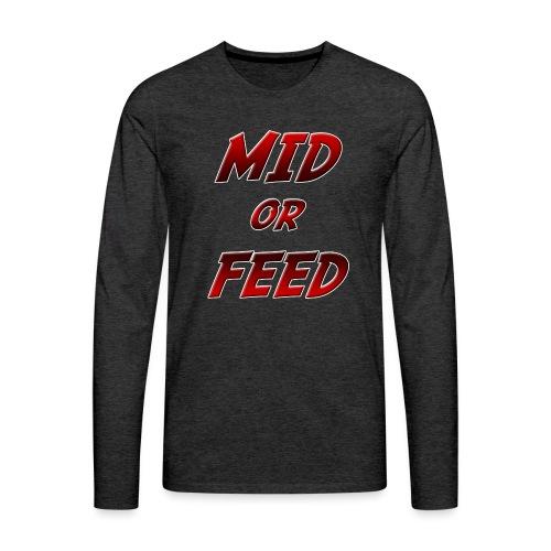 Mid or feed DONNA - Maglietta Premium a manica lunga da uomo