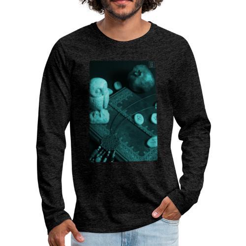 La Civetta della Sapienza - Maglietta Premium a manica lunga da uomo