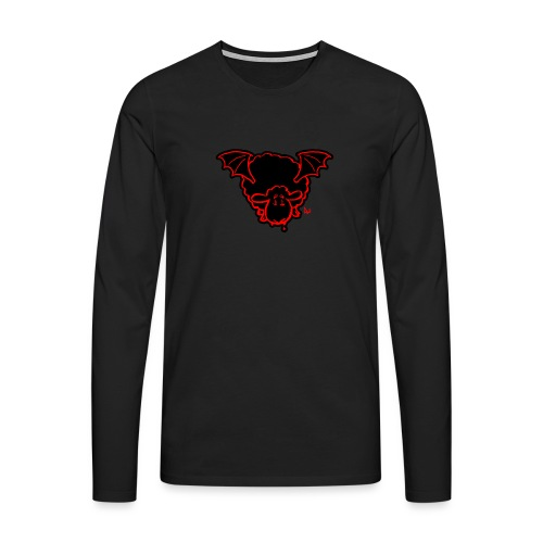 Vampire Sheep (red) - Men's Premium Longsleeve Shirt
