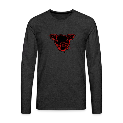 Vampire Sheep (red) - Men's Premium Longsleeve Shirt