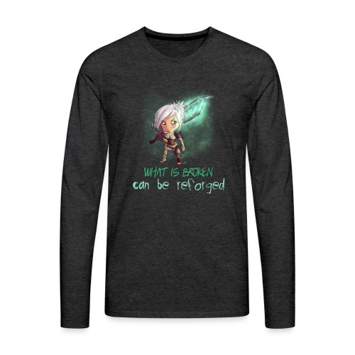 Chibi Riven con scritta DONNA - Maglietta Premium a manica lunga da uomo