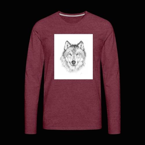 Wolf - Herre premium T-shirt med lange ærmer