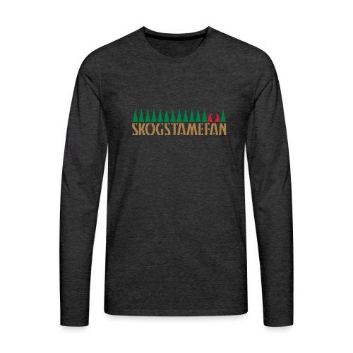 SKOGSTAMEFAN - Långärmad premium-T-shirt herr