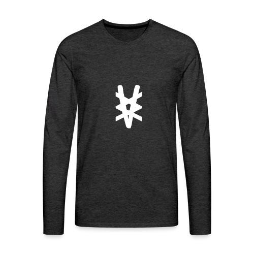 Vammabakken Merch Logga + Hoodie - Långärmad premium-T-shirt herr