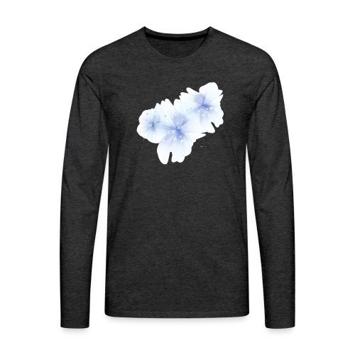 blue flowers - Koszulka męska Premium z długim rękawem