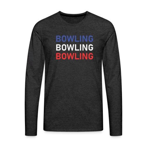 Bowling Bleu Blanc Rouge - T-shirt manches longues Premium Homme