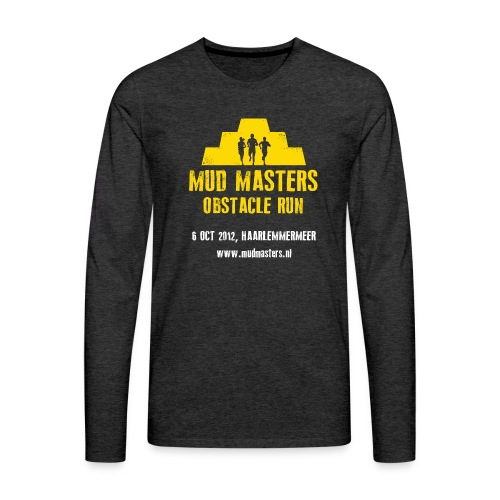 tshirt front - Mannen Premium shirt met lange mouwen