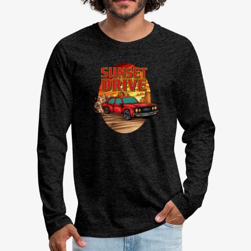 Sunset Drive - T-shirt manches longues Premium Homme