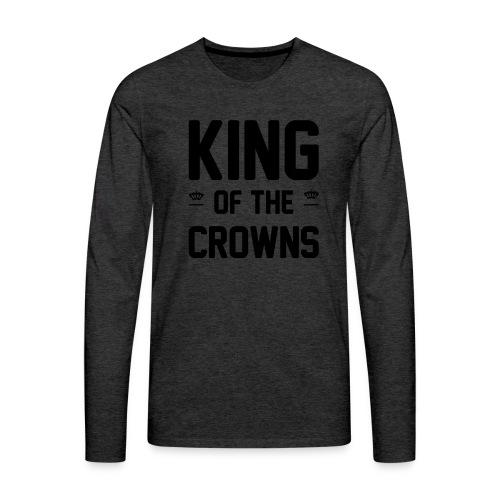 King of the crowns - Mannen Premium shirt met lange mouwen