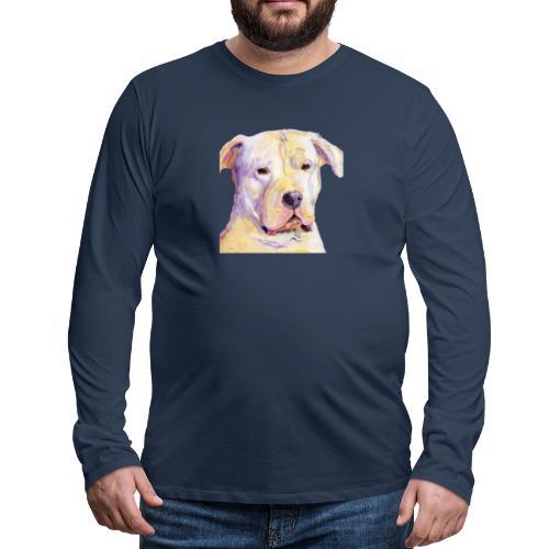 dogo argentino - Herre premium T-shirt med lange ærmer