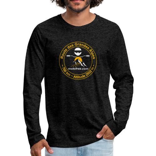 Route des Grandes Alpes Motofree (sans date) - T-shirt manches longues Premium Homme