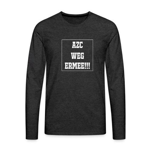 Protest t-shirt tegen de vluchtelingen. - Mannen Premium shirt met lange mouwen