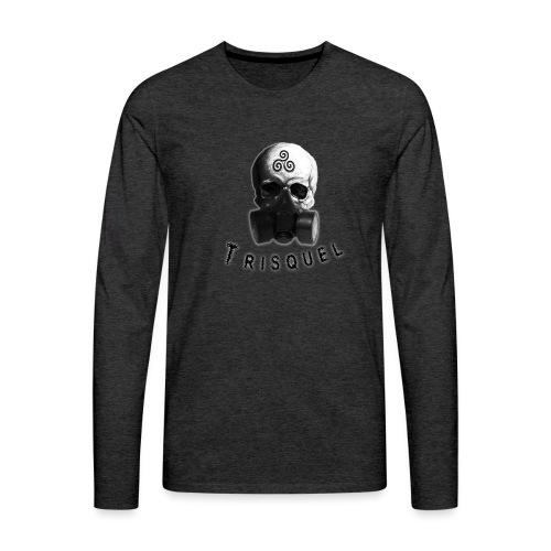 Trisquel Negro - Camiseta de manga larga premium hombre