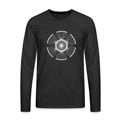 White Poppy Seed Mandala II - Men's Premium Longsleeve Shirt
