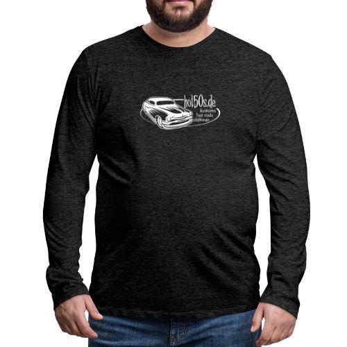hot50s Logo weiss - Männer Premium Langarmshirt