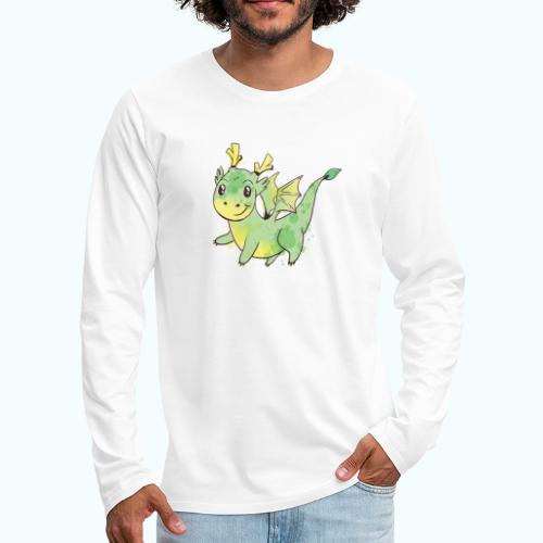 Little dragon drawing - Men's Premium Longsleeve Shirt