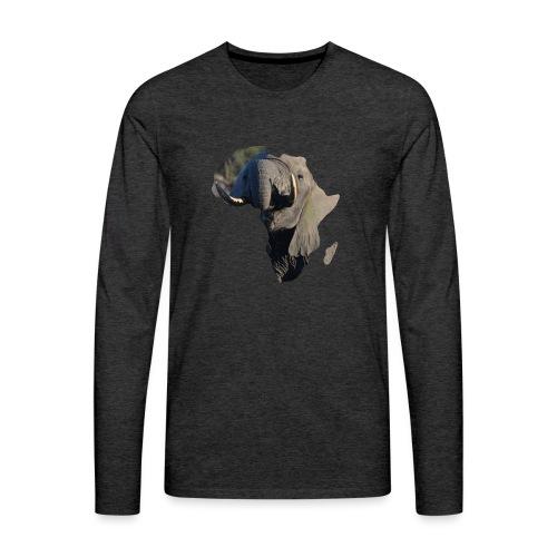 African Elephant - Männer Premium Langarmshirt