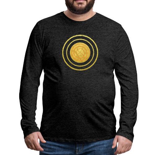 Glückssymbol Sonne - positive Schwingung - Spirale - Männer Premium Langarmshirt