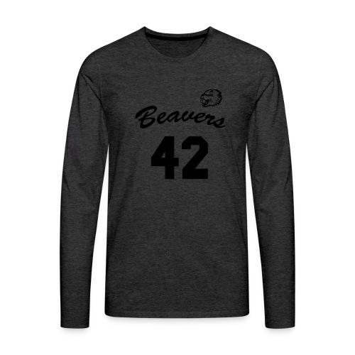 Beavers front - Mannen Premium shirt met lange mouwen