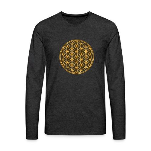 Flower of life GOLD 2 - Mannen Premium shirt met lange mouwen