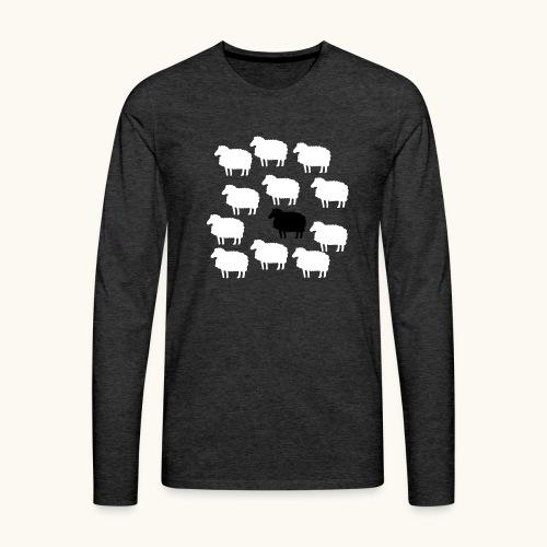 Lustige Schafherde Schwarzes Schaf Geschenkidee - T-shirt manches longues Premium Homme