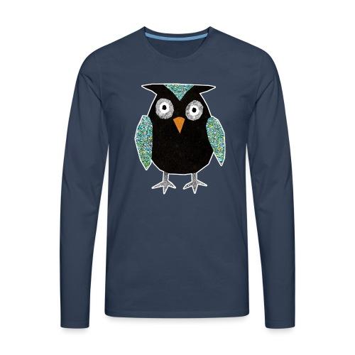 Collage mosaic owl - Men's Premium Longsleeve Shirt