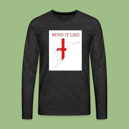 Bend It Like DavidBeckham - Långärmad premium-T-shirt herr