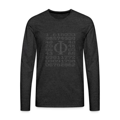 Verhältnis goldener Schnitt Φ = a : b = b : (a+b) - Männer Premium Langarmshirt