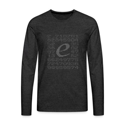 Eulersche Zahl e (Basis natürlicher Logarithmus) - Männer Premium Langarmshirt