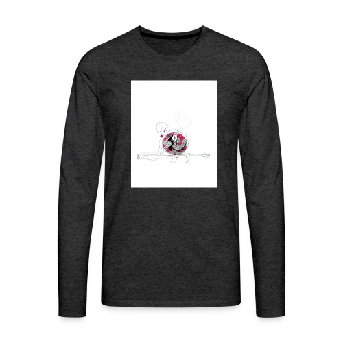 red lady - Men's Premium Longsleeve Shirt