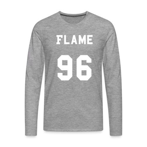 maglietta_flame_96 - Maglietta Premium a manica lunga da uomo
