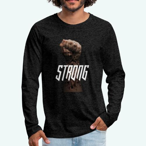 Strong - Männer Premium Langarmshirt
