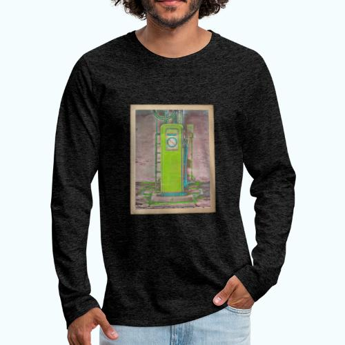Vintage gas station - Men's Premium Longsleeve Shirt